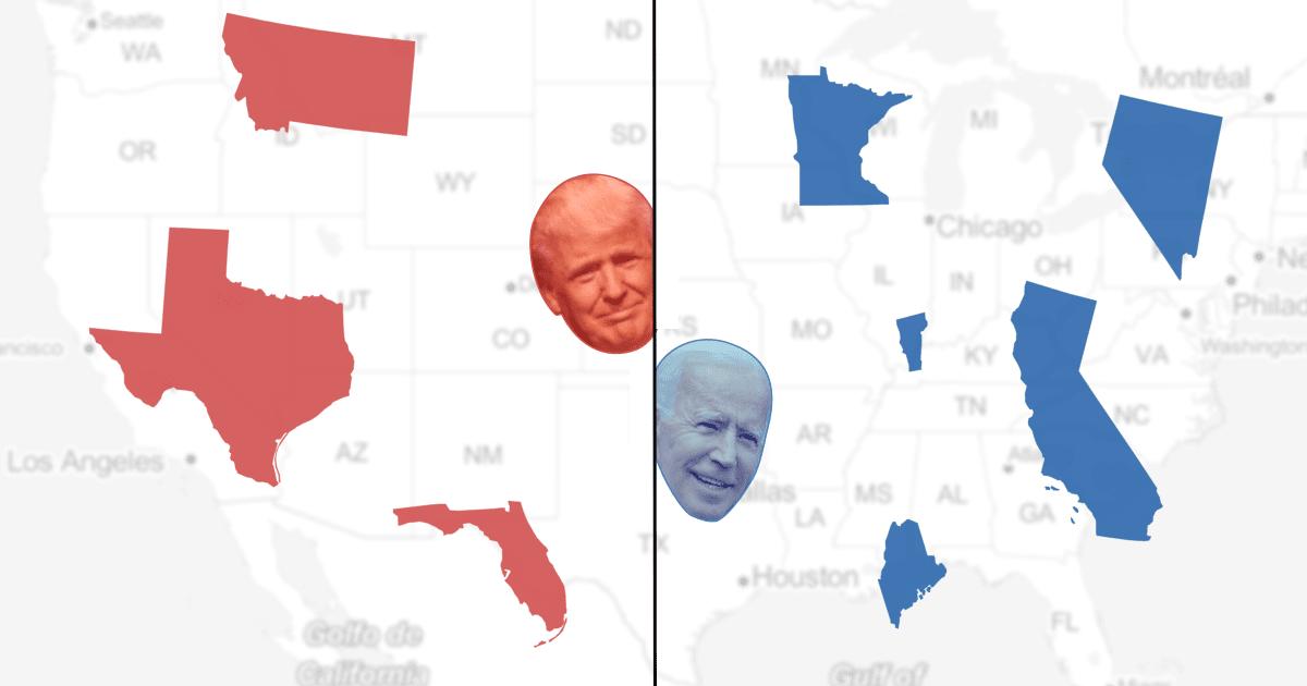 Umfragen Trump Biden
